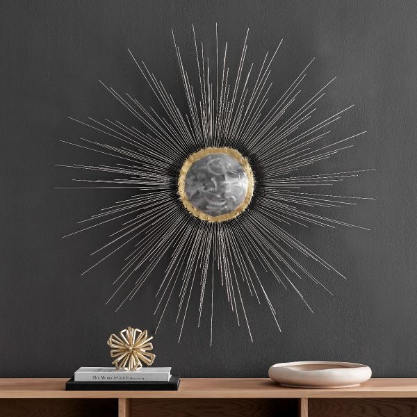 Explosion Wall Art // Silver