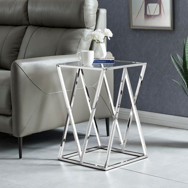 LED Side Table // Square, Small