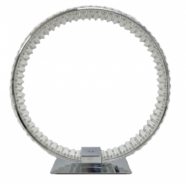 Grace // Crystal Circular Table Lamp // Touch & Dimmable