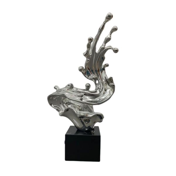 Wave Sculpture in Chrome // Table Top Base