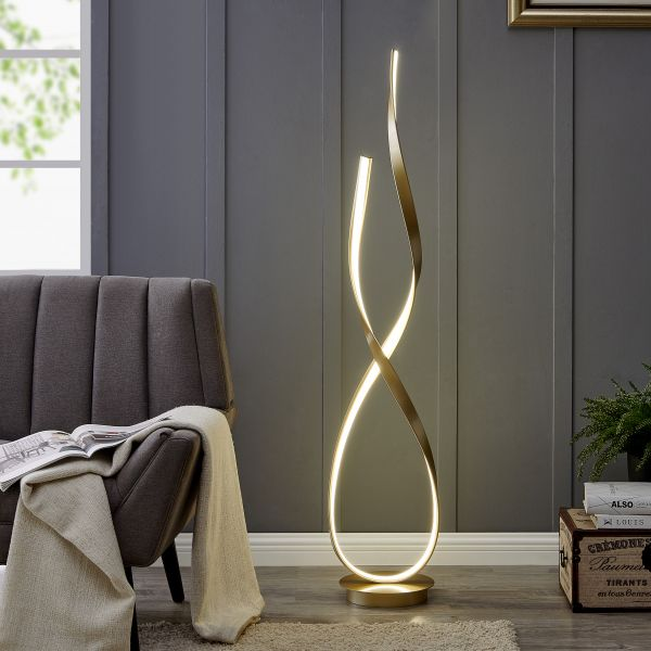 Vinena LED Floor Lamp // Sandy Gold