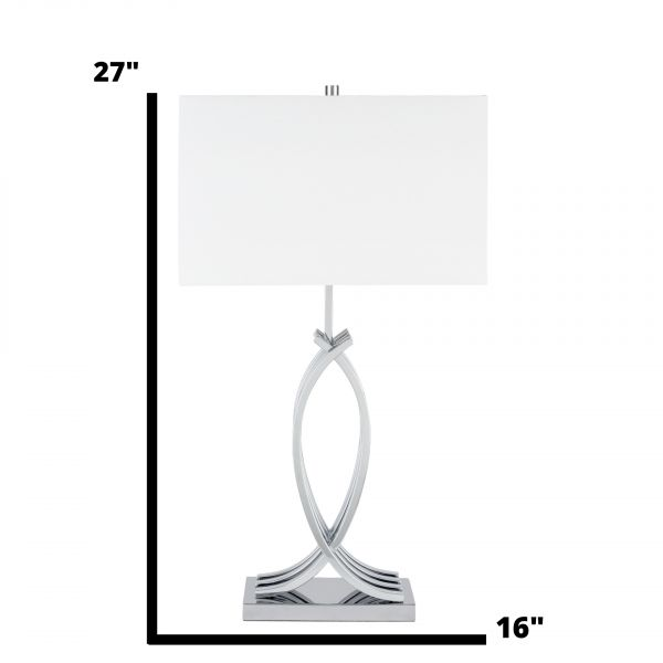 Unity in Chrome Table Lamp // 1 Light // USB Charger