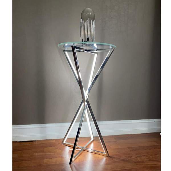 LED Side Table // Round, Medium