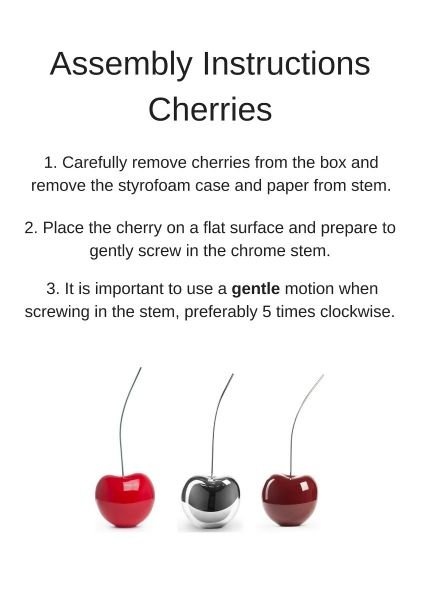 Finesse Décor- Red Wine Cherry Sculpture- Small