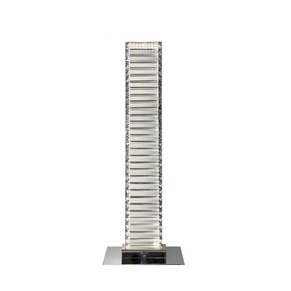 Grace // Crystal Tower Table Lamp // Touch & Dimmable