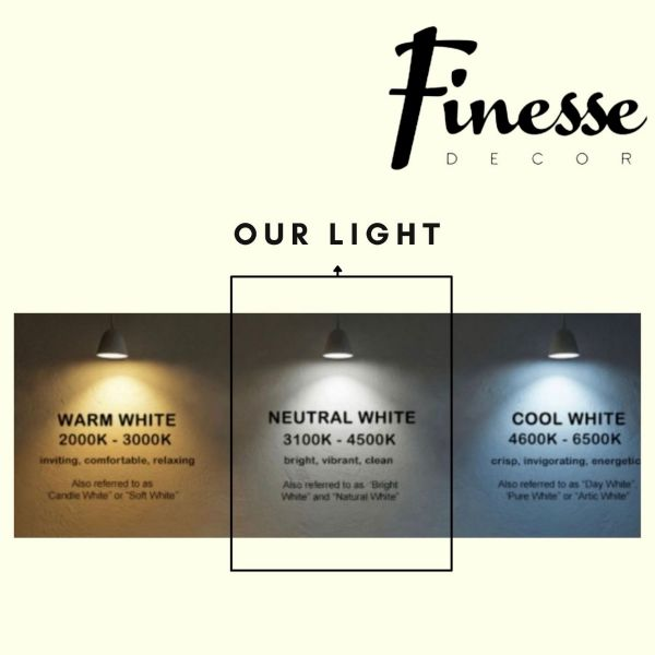 Munich White LED Table Lamp// Natural White LED Strip & Touch Dimmer